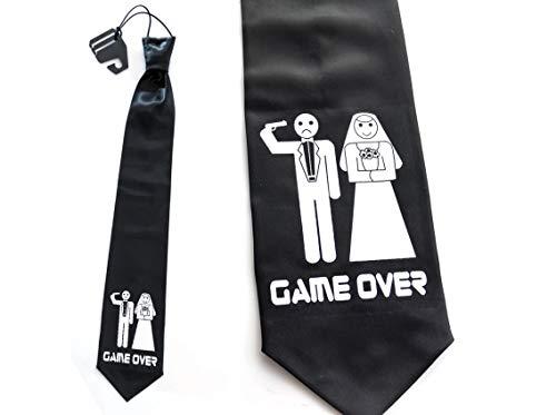 Krawatte Game Over JGA Schlips/Tie - 53 cm Shoot me!