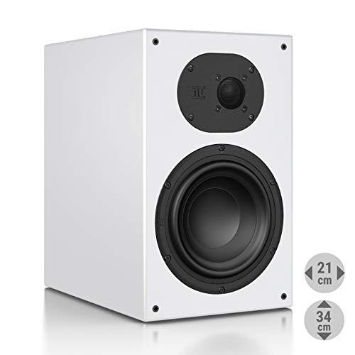 Nubert nuLine 34 Regallautsprecher | Lautsprecher für Musikgenuss | Heimkino & HiFi Qualität auf hohem Niveau | passive Regalbox mit 2 Wege Technik Made in Germany | Kompaktlautsprecher Weiß | 1 Stück