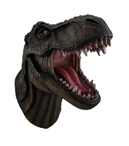 Tyrannosaurs-Rex-Wand-Skulptur mit offenem Maul, Dinosaurierkopf