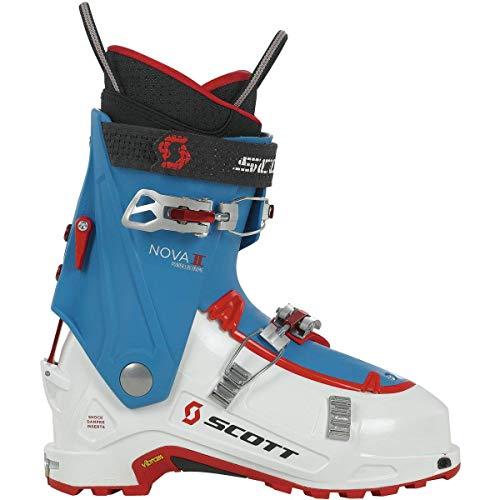 Scott Women's Nova II Alpine Touring Ski Boots, White/Mykonos Blue (25.5)