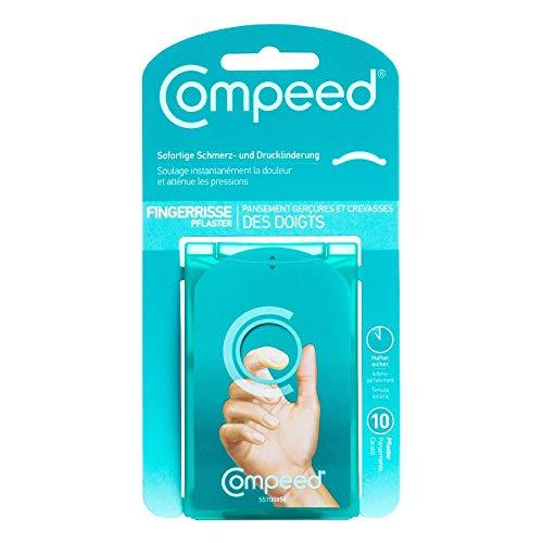 Compeed Fingerrissepflaster – Fingerpflaster mit Hydrokolloid gegen eingerissene Fingerkuppen und Risse der Nagelhaut, 10er Pack