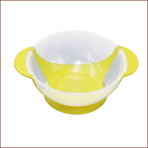 WEQQ Babygeschirr Geschirr Saugnapf Neugeborene Babynahrung Babynahrungsschalen (gelb)
