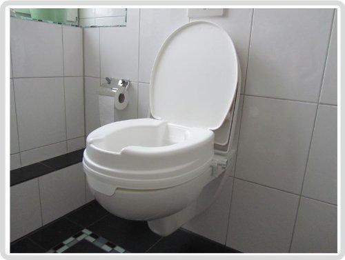 Toiletbril 10 cm met deksel Relaxon Basic - toiletbril toiletbril verhoger wcstoel