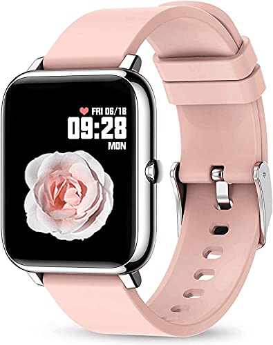 """Rogbid Rowatch 1 Smart Watch for Women Girl 1.4"""" Touch Screen Blood Pressure Blood Oxygen Sleep Heart Rate Monitor IP67 Waterproof Smartwatch Fitness Activity Tracker Watch Compatible iPhone Android"""