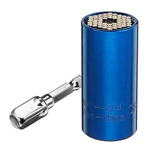 Sleeve Torque Wrench Head Set Socket Power Drill Adapter Ratchet Bushing Key Grip (Color : Blue)