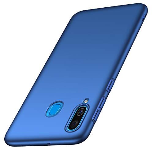 Anccer Funda Samsung Galaxy A40, Ultra Slim Anti-Rasguño y Resistente Huellas Dactilares Totalmente Protectora Caso de Duro Cover Case para Samsung A40 (Azul Liso)