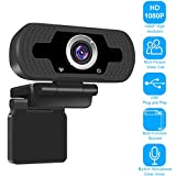 ZILINK 1080P Webcam with Microphone, PC Desktop Laptop USB Webcams for Video Calling, Conferencing, Streaming, Recording, Skype, Plug and Play, Wide Angle