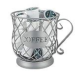 JUNCHUANG - Cestino per capsule di caffè, grande capacità, porta tazze da caffè e organizer per frutta e caramelle