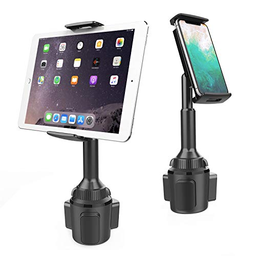 APPS2Car Cup Holder Tablet Mount, 2-in-1 Cup Holder Car Cradle Adjustable Tablet Car Mount Holder Compatible with 4.3-11 inch Tablets, Apple iPad Mini/Air/Pro, iPhone, All Smartphones