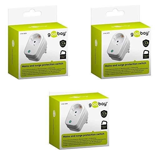 goobay Netz-und Überspannungsschutz (230V-3500) (3er Pack)