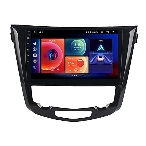 Roadanvi Android Stereo für Nissan X-Trail Qashqai Nissan Rogue 2014 bis 2018 Videoplayer Touchscreen mit 1280x720 Auflösung GPS Navigation Carplay Android Auto AM/FM Radio Mirror Link