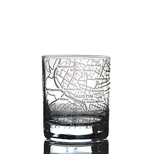 City Whiskyglas - 1 Stück Austin, TX