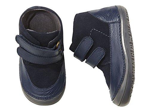 Baby Leder Krabbelschuhe Krabbel Schuhe Lederschuhe dunkleblau (18)