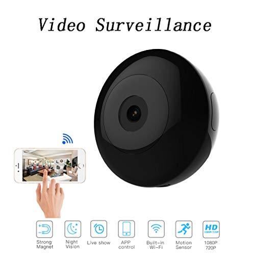 XBRMMM Cámara 4G Mini HD 1080P Super Pequeña Niñera, Cámara Micro Vigilancia Portátil con Detector Movimiento Y Visión Nocturna por Infrarrojos, para Interior Y Exterior, Plug and Play