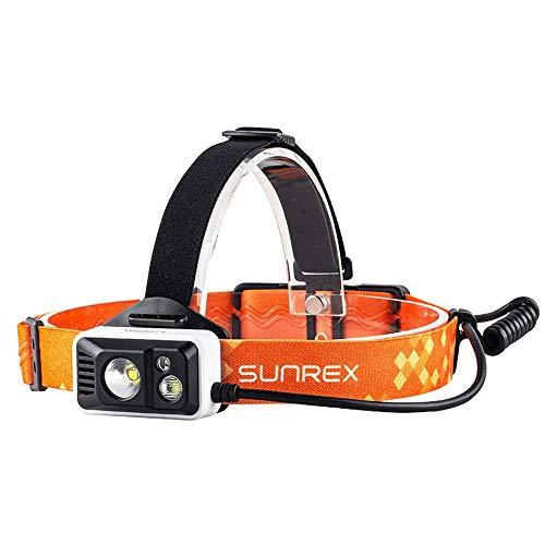 Luz LED recargable L-YG USB Linterna recargable USB LED, linterna del faro, super brillante LED Faros, blanco, rojo y azul LED, 5 modos, mejor for el camping, senderismo, footing, Pesca y los faros de