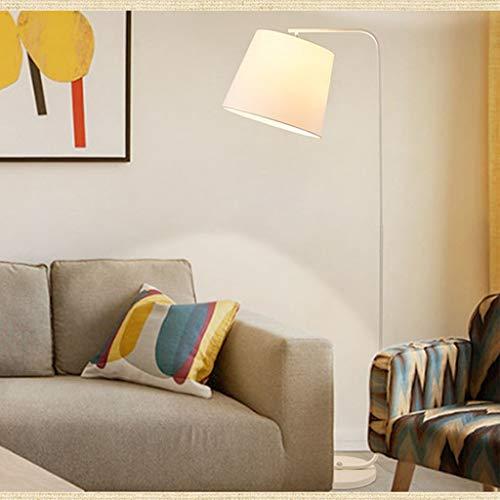 XIN Home staande lamp, staande leeslamp, retro creatieve eenvoudige moderne slaapkamer bedlampje vissen staande lamp oogbescherming verticale tafellamp wit
