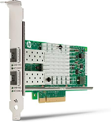 HP Intel X550 10GBASE-T Dual Port Nic Ethernet 10000 Mbit/s Interno - Accesorio de Red (Interno, Alámbrico, Ethernet, 10000 Mbit/s, Verde, Plata)