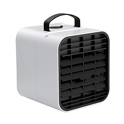 WERTAZ Tragbares Klimagerät, Mini-Luftkühler, USB, wiederaufladbar, Ventilator, Klimaanlage, leise, Mobile Persönlich, Luftkühler, Luftbefeuchter, weiß, Einheitsgröße