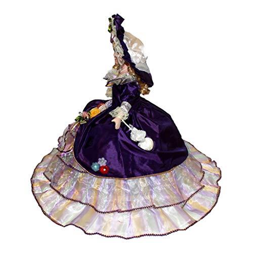 Toygogo Bambola in Porcellana Fatta A Mano con Supporto, Statuetta in Ceramica Vittoriana da 45 Cm, Regalo per Bambini da Collezione, 7 Colori tra Cui Sceglie - style4, 14x9x45cm