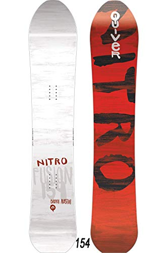 Nitro Snowboards Herren Quiver Fusion BRD'20 Premium Directional Tapered All Mountain Freeride Powder Backcountry Boards Snowboard, mehrfarbig, 154 cm
