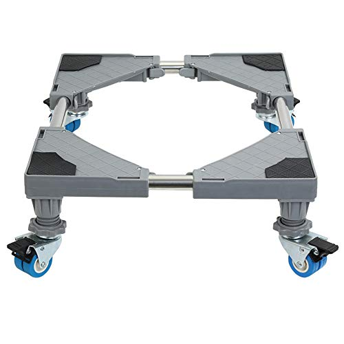 Mueble multifuncional Dolly Roller Base Soporte Frigorífico Ajustable con Base Móvil para Lavadora, Frigorífico y Secadora (4 ruedas)