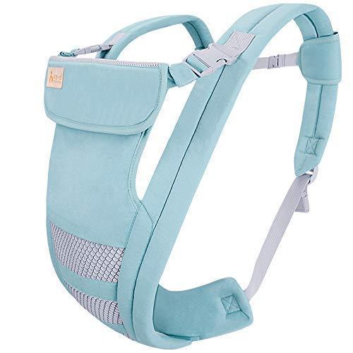 LFEWOZ Mochila portabebés transpirable portabebés para bebés y recién nacidos, asiento de la cadera para bebés y bebés recién nacidos, mochila de seguridad suave