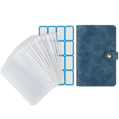 ファイルフォルダー Dadanism リングバインダー A6サイズ 6穴 PUレザー材質 ファスナーポケット付き ラベル付き ペンホルダー付き カードスロット付き 防水 不透明 多機能 オフィス用品 書類入れ ルーズリーフファイル ファイルケース システム