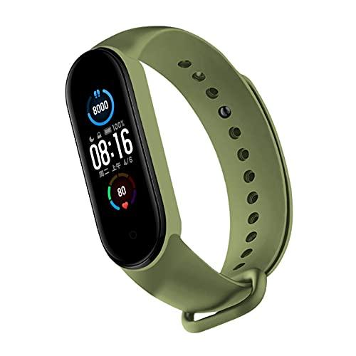 EATAN Correa de silicona multicolor para Xiao-mi Mi Band 6 Smart Wristband Accesorios Smart Watch Band