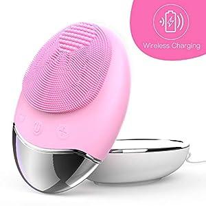 Esponja Limpiadora Facial de Silicona Cepillos y aparatos para limpiar la cara, cepillo y masajeador facial eléctrico resistente al agua, sistema limpiador para todo tipo de pieles