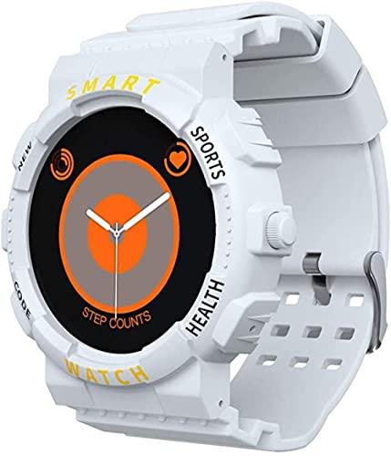 reloj inteligente pulsera inteligente llamada Bluetooth ritmo cardíaco presión arterial detección de oxígeno en sangre medición temperatura corporal reloj-Blanco