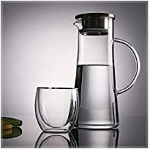 CHOUREN 1500ml High Borosilicate Stainless Steel With Cover Glass Cold Water Bottle