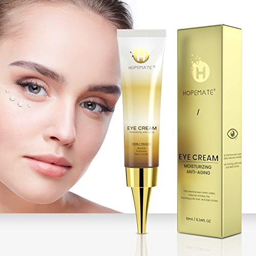41rmiL AeOL - HOPEMATE Anti Age Eye Cream, Reduce Dark Circles, Puffiness Under Eye Bags,Effective Anti-Wrinkles Treatment - Anti-Aging Eye Gel with Hyaluronic Acid Natural and Organic Anti Aging Eye Balm To Reduce