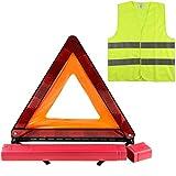 VERINAUTO Kit de signalisation Triangle + Gilet 3M Homologués Norme CE, kit Auto sécurité