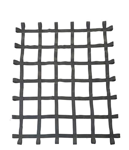 FONG Climbing Cargo Net Black 6 ft X 5 ft (72 inch x 60 inch) - Playground Cargo Net - Climbing Net for Swingset - Indoor Climbing Net - Climbing Ladder