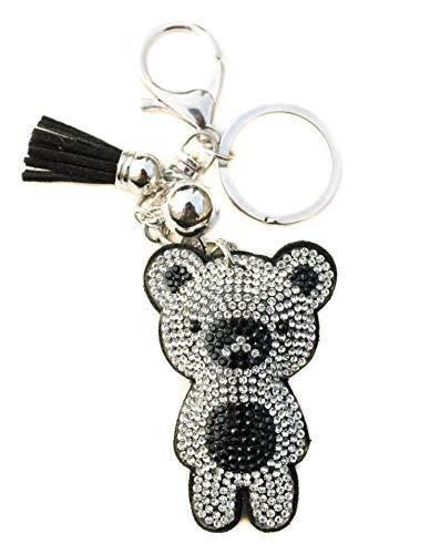 AuPra Crystal Panda Bear KeyRing Gift Idea Women & Men Best Friend Home Teddy KeyChain Mum & Dad Teacher Handbag Charm Key Ring Girl & Boy Car Pendant