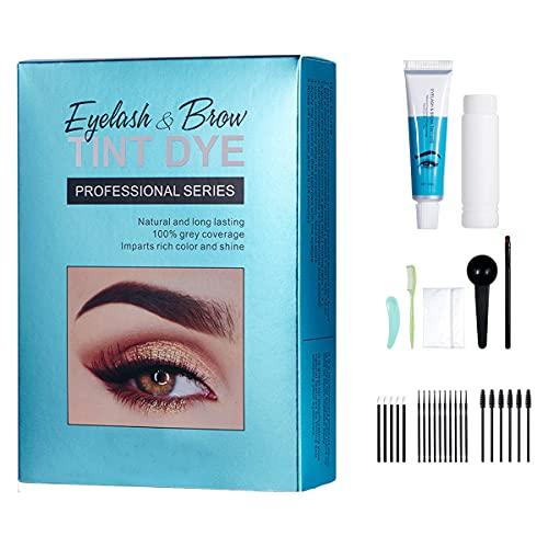 Eyelash & Eyebrow Tint Dye Kit For Brow Eyelash Tinting and Coloring, Long Lasting Eyebrow Color, Up to 30 Applications Kit, Light Brown