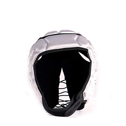 HEAT PRO competition rugby helmet headguard, Silver, size XL