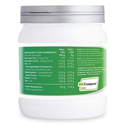 TNT Creapure® Creatine – 100% Kreatin-Monohydrat – Leistungssteigerung und Kraftschub im Training – 500g Dose - 3