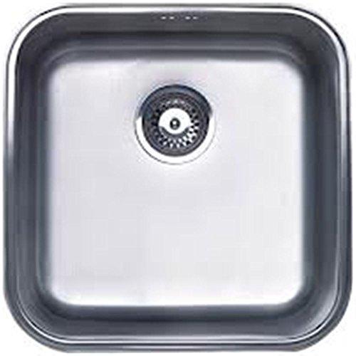 Cata 2624001 Modelo CB 40-40 Cocina un Seno | Cubeta Cuadrada | Ideal para Mueble de 50cm | Profundidad de 18 cm | Fregadero bajo encimera