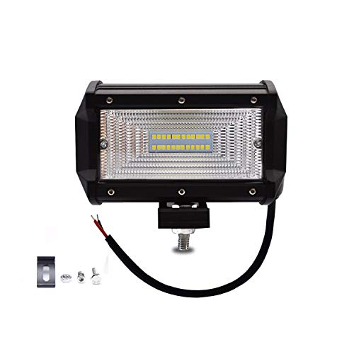 AllExtreme EX24FW1 5 Inch CREE Fog Light 24 LED Cube Waterproof Flood Lamp for Cars Truck SUV and Motorcycle (72W, White Light, 1 PC)