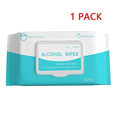 XCBY 75 alcohol Medical disinfection wipes, 50 pieces per pack, convenient to carry and protect the health of adult children 1 packs by XCBY