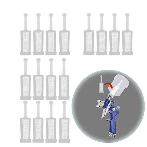 Liseng 16 piezas universal de pistola de gravedad, filtro de malla fina, desechable, pistola pulverizadora de gravedad, colador de pintura
