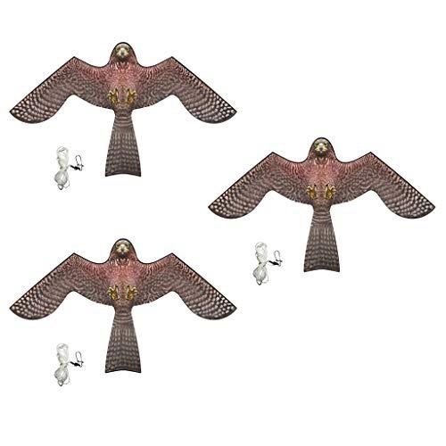 perfeclan 3 Piezas Cometas Águila 3D Bird Scarer Kite Espantapájaros 140x 85cm Protección de Cultivos Agricultores