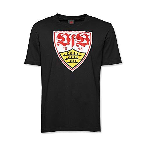 VFB STUTTGART T-Shirt schwarz Wappen - M