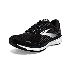 top 10 running shoes high arches Brooks Ghost 13 Black / Black Pear / White 9 D – Wide