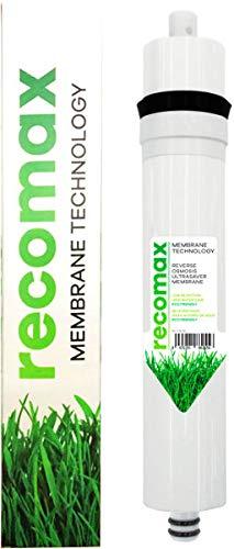 Recomax Membrane Technology de bajo rechazo. para ósmosis inversa Convencional de 50 a 75 GPD.