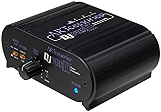 ART DJ Pre II 2.0 Phono voorversterker binnen, draadloos, zwart, audioversterker (2.0 kanalen, 0,01%, 90 dB, 47000 Ohm, 1...