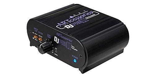 ART DJ Pre II 2.0 Phono-Vorverstärker Innenbereich, Kabellos, schwarz, Audio-Verstärker (2.0Kanäle, 0,01%, 90dB, 47000Ohm, 10–50000 Hz, RCA)
