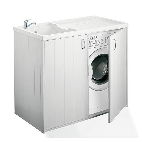 Idroclic - Nascondi Lavatrice con lavatoio 109x60 in Kit. Made in Italy - 60IC08SPPLK