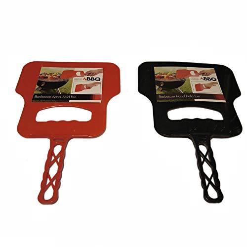 Grillfächer Grillwedel BBQ-Fächer, lebensmittelechter Kunststoff, ca. 31 x 20.4 x 0.8 cm, rot oder schwarz, 1 Stück